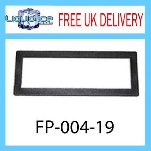 FP-004-19 2mm x 19mm Black Fascia Facia Adaptor Panel Single Din Trim Surround