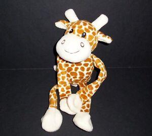 10-5-034-Dandee-Brown-Cream-Giraffe-Plush-Sewn-Eyes-Sticky-Hands-Stuffed-Animal