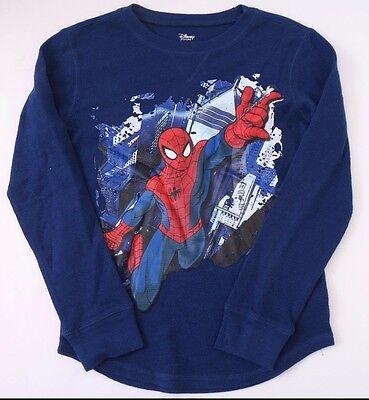 Spiderman Gray Black Long Sleeve Shirt Boys Size 7 NWT   #47