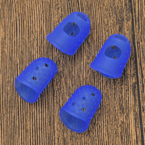 4Pcs Silicone Thimble Finger Picks Protector DIY Sewing Needlework Accessories