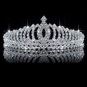 Wedding-Bridal-Princess-Crystal-Rhinestone-Hair-Accessory-Tiara-Crown-Veil-Gifts