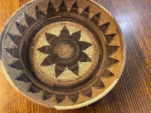 Vintage Buka Basket. Solomon Islands, round design.