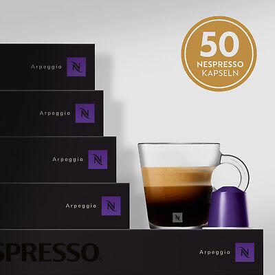 NESPRESSO ARPEGGIO Kaffeekapseln Espresso 5 Stangen Kaffee 50 Kapseln Intenso