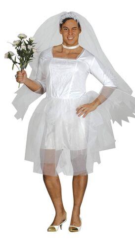 Adult Male Bride Wedding Dress Costume UK 38-40 MEDIUM EU 48-50