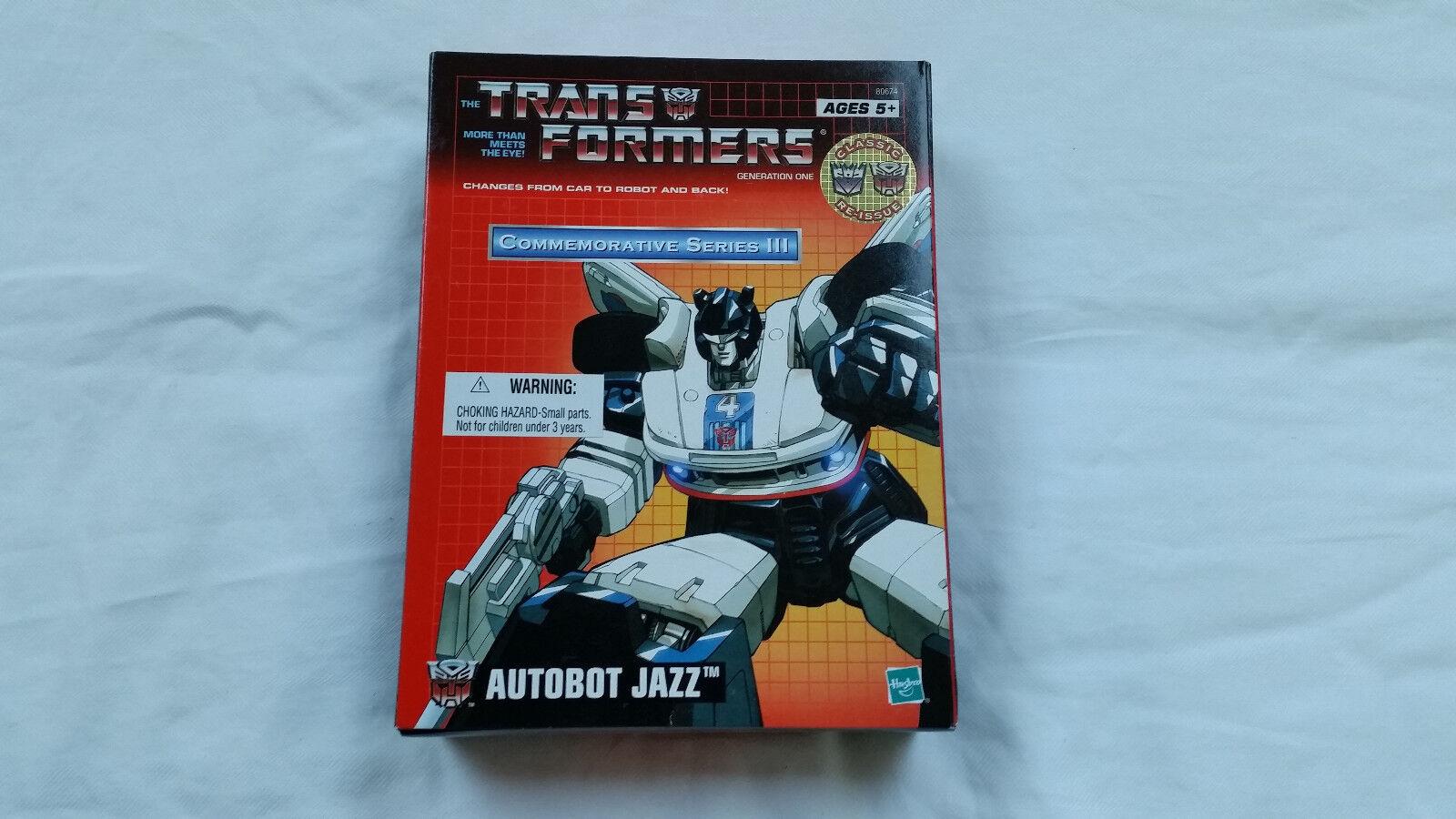 Transformers Reedición Jazz sin usar y en caja sellada