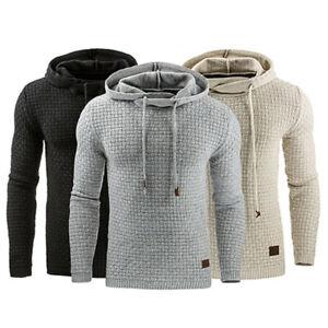 Men-039-s-Slim-Pullover-Hoodie-Warm-Winter-Hooded-Sweatshirt-Coat-Sweater-Outwear