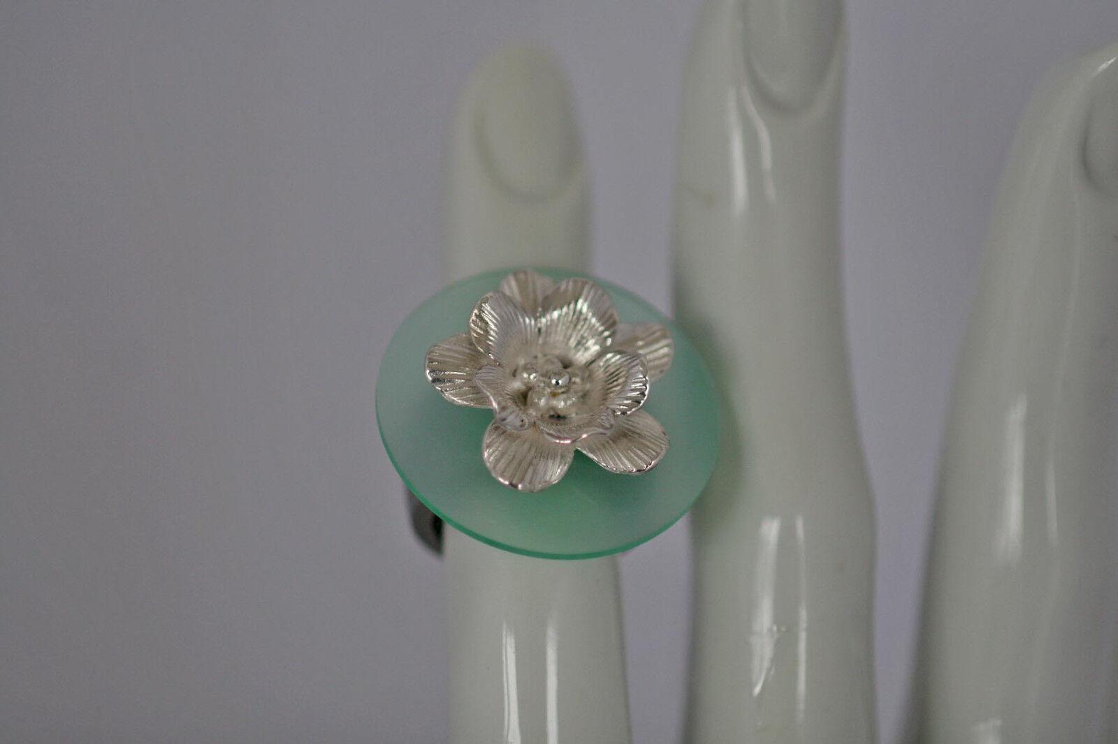 ♥♥♥  Blütenköpfchen in massiv 925 silver für CHARLOTTE 21  ♥♥♥