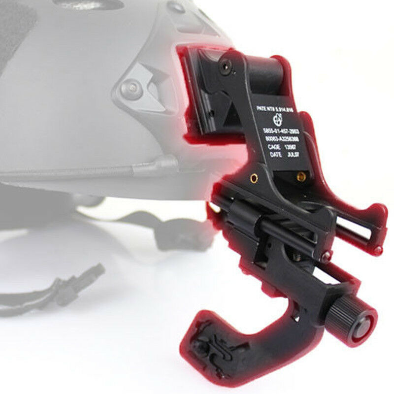 Hunting Tactical Airsoft Paintball Fast Helmet Mount with NVG J Arm Adapter
