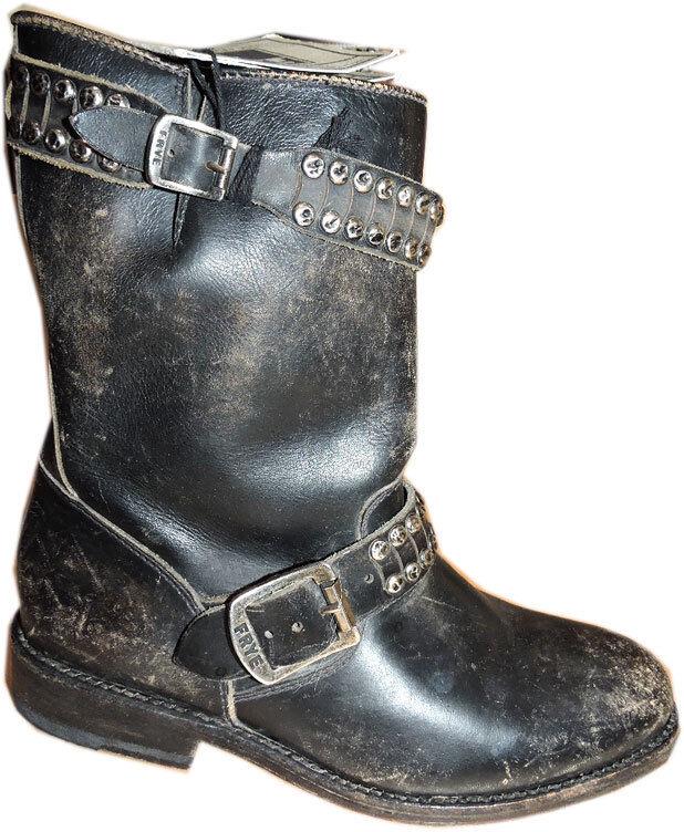 marchio in liquidazione Frye Jayden Perno Stivali Stivali Stivali Vintage Nera pelle Stivali da Moto Cowboy Stivaletti 6  forma unica
