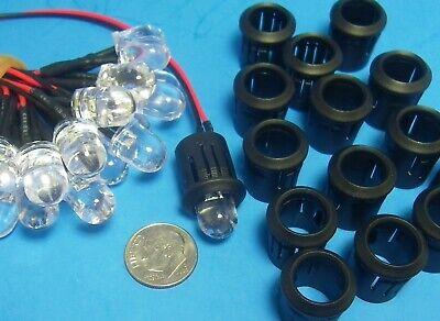 Resistor Leads ASSORTED COLORS LED LIGHTS 21 PCS 12 VOLT HO 1:87 Train 3mm Bulb