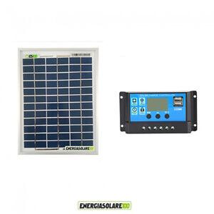 Kit-Solare-Fotovoltaico-pannello-20W-12V-Regolatore-PWM-10A-Nvsolar-Camper-Casa