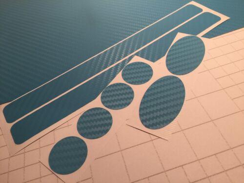 ORANGE Carbon Fibre Vinyl Cycle cable rub frame protector patches BMX DH MTB