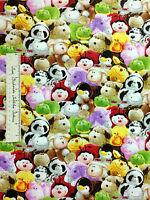Print Concepts Fabric - Pillow Pets Animal Toss Panda Penguin Pig Dog Yards