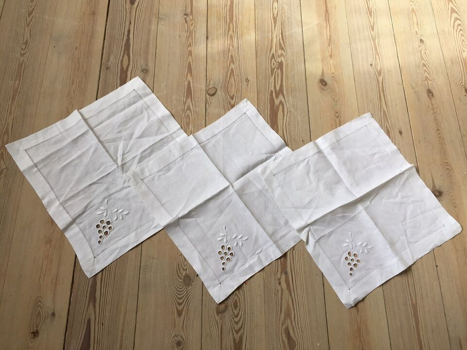 3 stof servietter