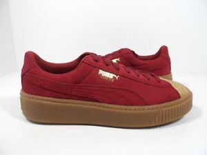 PUMA Suede Platform Glam Jr Kids Sneaker Puma Team Gold Tibetan Size ... da8c72f31
