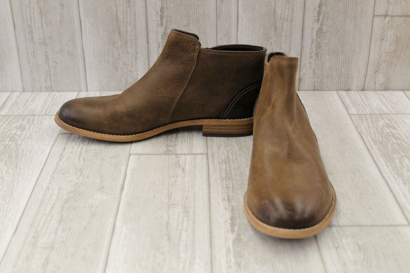 Clarks Maypearl Juno Ankle Boots - Women's Size 10 M, Brown (REPAIR)