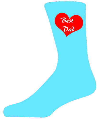Best Dad in a Red Heart on Turquoise Socks Lovely Birthday Gift