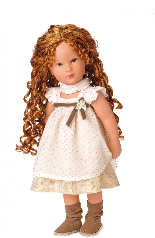 Käthe Kruse Puppe Girl Jaimie ca. 41 cm rotes Haar grüne Augen