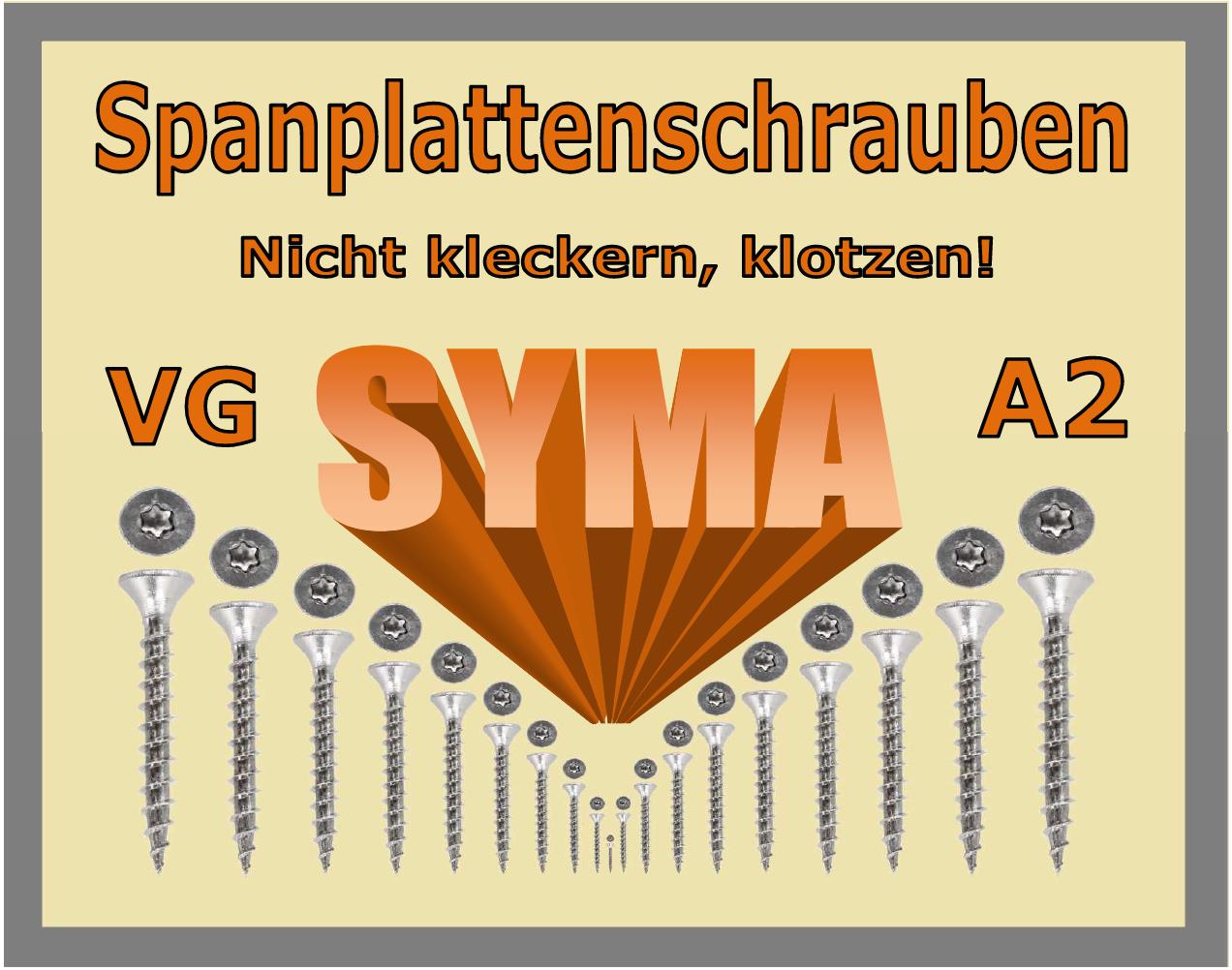 Spanplattenschrauben Torx Edelstahl A2 V  5 X 50 mm Senkkopf  VG  | Creative