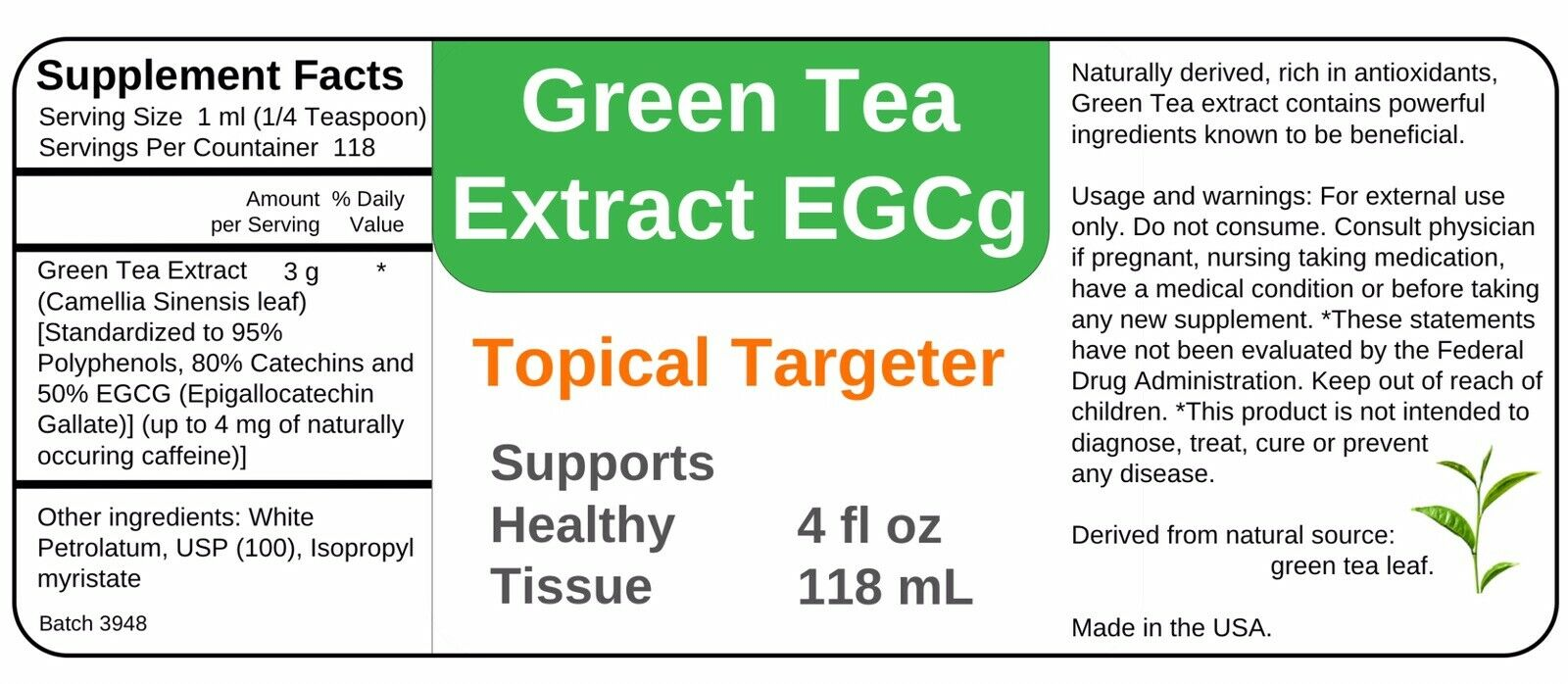 Details about HPV Genital Warts Ointment 4 oz 118 mL with Green Tea Extract