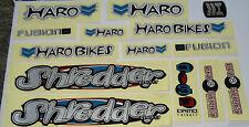 HARO SHREDDER mag BMX Sticker Set - '90s Old School Freestyle BMX Decal Set  NOS