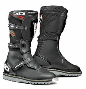 Sidi-Courier-Microfibre-Motorcycle-Bike-Leather-Touring-Waterproof-Boots-Black