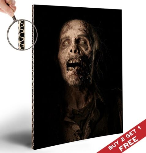 Halloween Party Decoration Scary Wall Door Art Glossy A4 Picture ZOMBIE POSTER