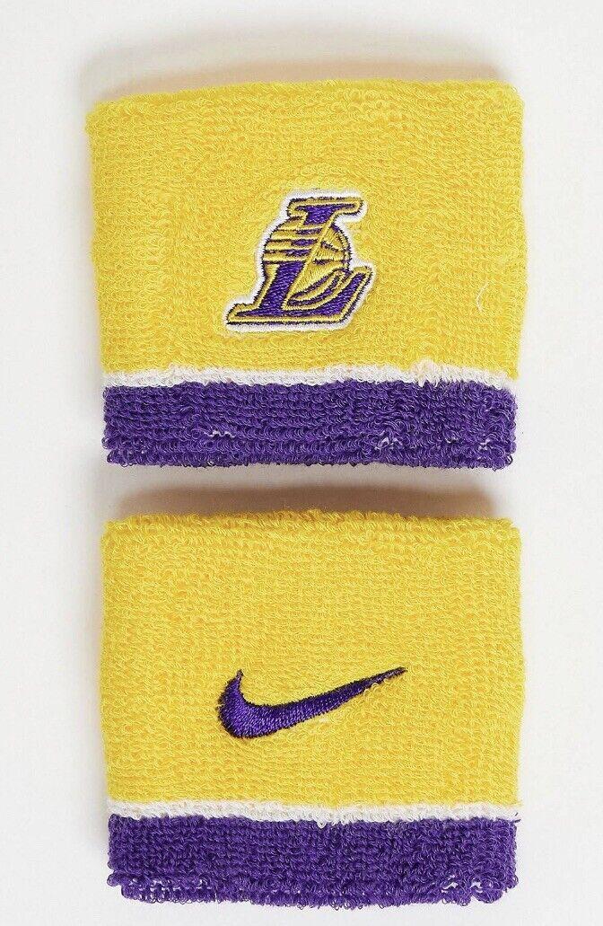 Nike Los Angeles LA Lakers Sweat Bands - New - NBA, USA, Wristbands, Gym, Run