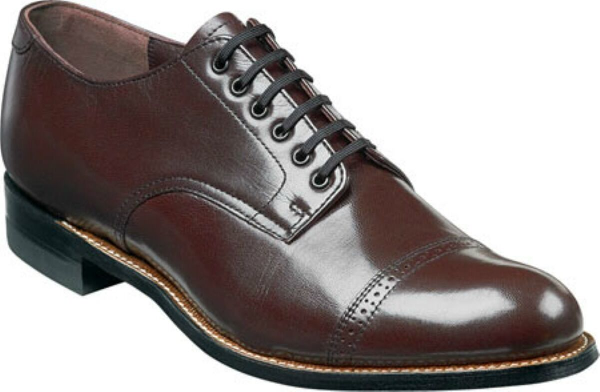 Stacy Adams Mens Madison Cap Toe Oxfords Burgundy Leather Dress shoes 00012-05