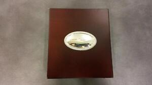 Scatola porta CD in legno con targhetta in argento, ITS cod. 8591 | eBay