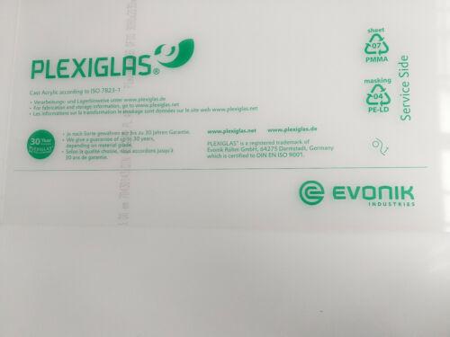 Kostenfreier Wunschzuschnitt 49,99€//m² PLEXIGLAS® GS Klar 2 mm Stärke