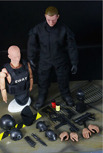 1-6-Scale-Soldier-12-039-039-Figure-Black-SWAT-Shooter-Soldier-Ranger-Policemen-Model