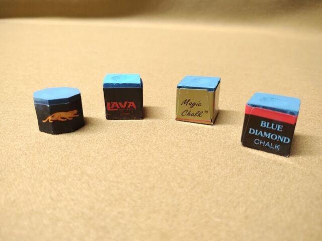 Magic Chalk Russia Performance Pool Cue Chalk 2 Blue Pieces Premium Box Chalk