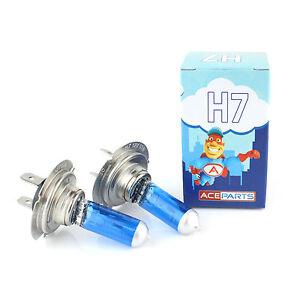 VW-Golf-MK4-H7-55w-ICE-Blue-Xenon-HID-High-Main-Beam-Headlight-Bulbs-Pair