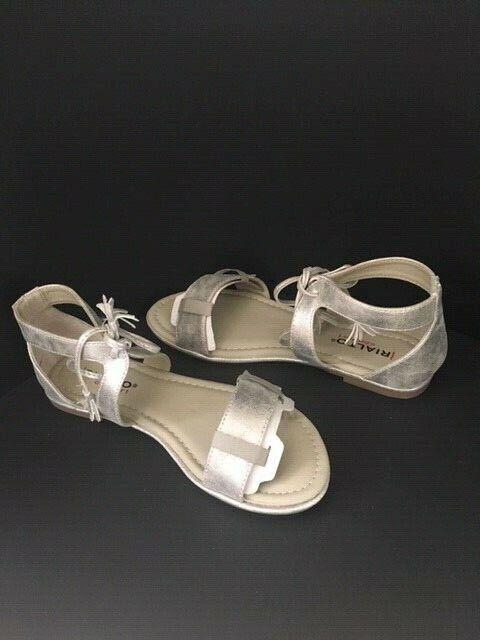 NIB NIB NIB RIALTO ROBYN Silver Sandals - Size 6.5 1209ac