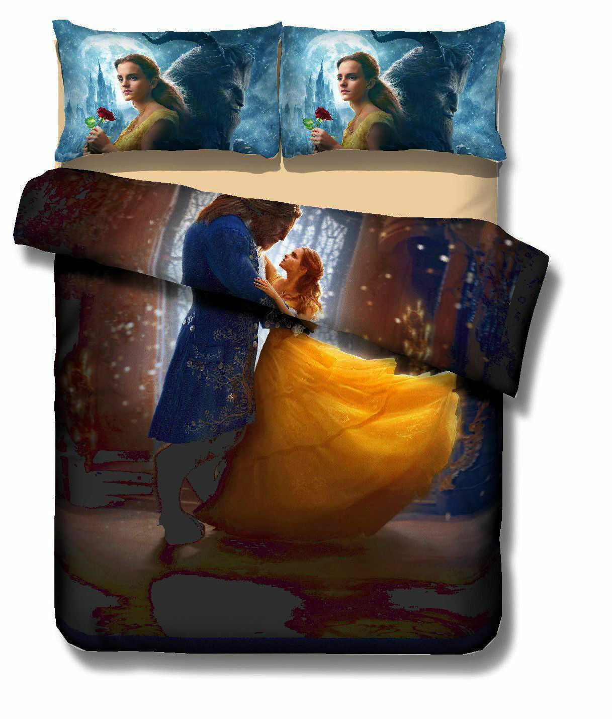 Beauty and the Beast Bedding Set Fairy Tales Duvet Cover Quilt Cover Pillowcase