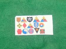 1/6 WW2 US army units on D-Day patches