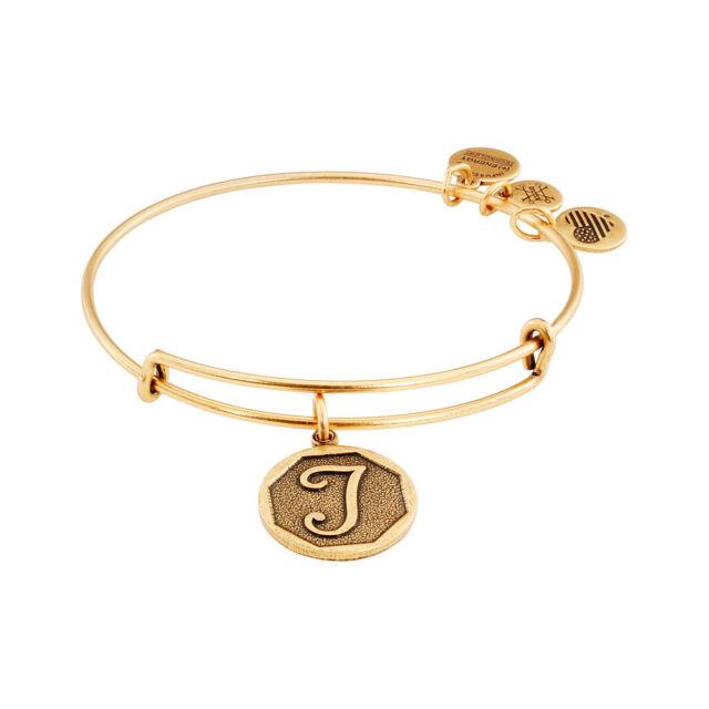 2223d177f9a Alex And Ani Initial T Charm Rafaelian Gold Finish Bangle Bracelet A13EB14TG