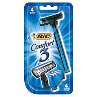 Bic Comfort 3 Shavers For Men Sensitive Skin 4 Each (pack Of 2) on sale