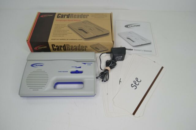 Califone Card Reader Language Learning Card Player Lightweight Portable ELL ESL