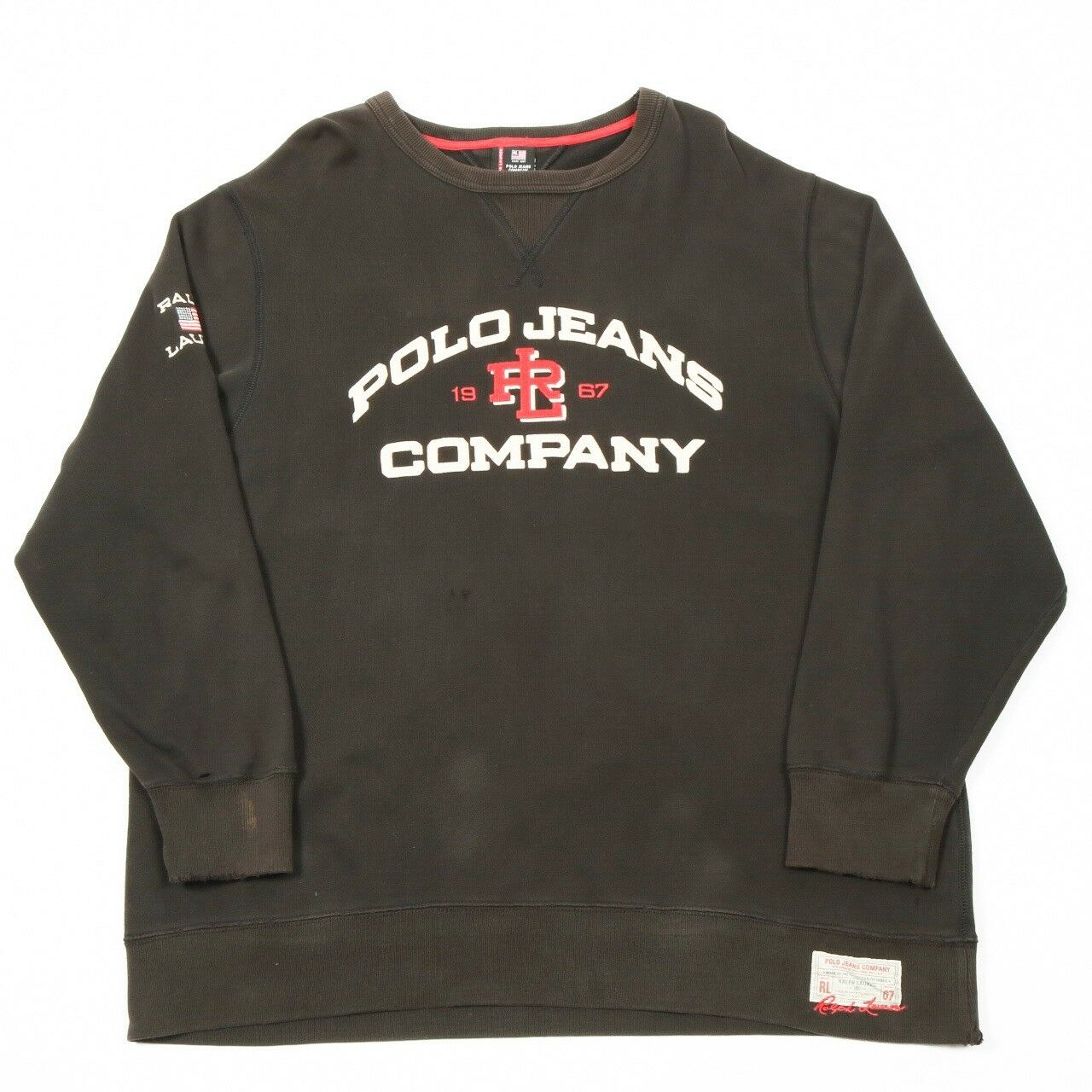 90s Vintage POLO by RALPH LAUREN Spell Out Sweatshirt |  Herren XL | Retro Sweat