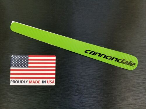 GREEN Carbon Fiber Chain stay Frame Protector Guard sticker decal cannondale