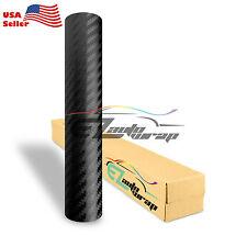 """4""""x8"""" SAMPLE Premium 3D Carbon Fiber Matte Black Vinyl Wrap Sticker Bubble Free"""