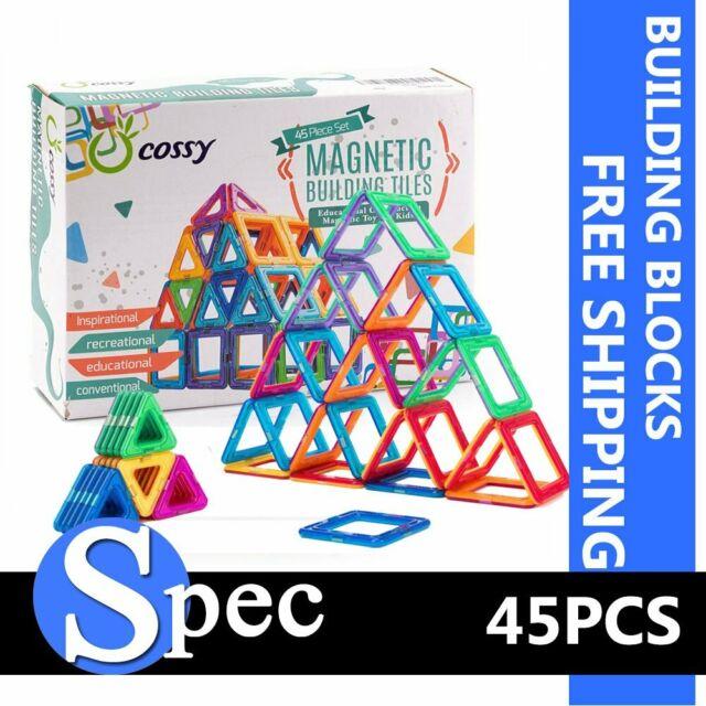 Cossy Kids Magnetic Tiles Educational 120 Pcs 3D Magnetic Building Blocks Puzzle