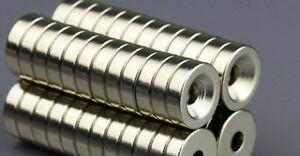 D10 x H3 mit 3 mm Loch Neodym Magneten extra stark super Ringmagnet Magentisch