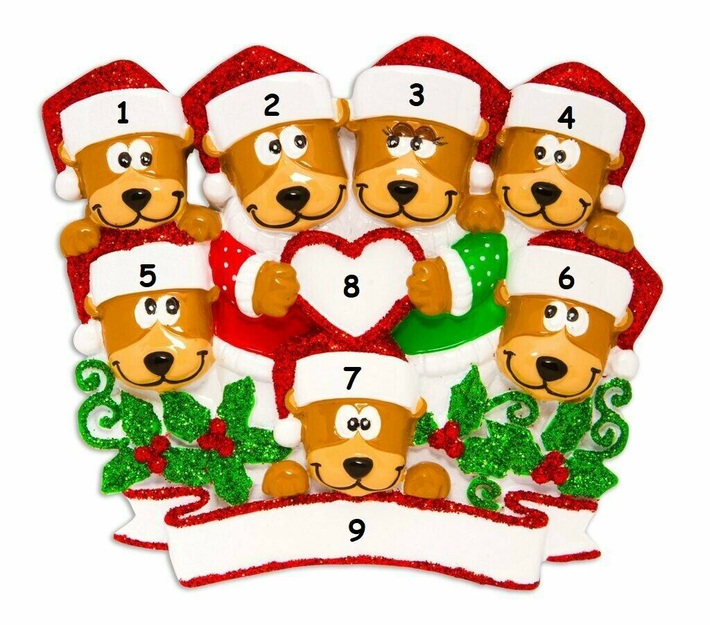ABE-2SL Beautiful Brown Bear Photo Slate Christmas Gift Ornament