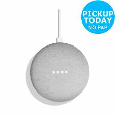 Google Home Mini Voice-Activated Wireless Bluetooth Speaker - Chalk