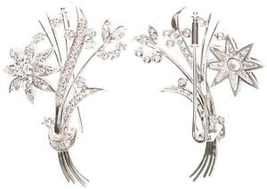Brooch-White-Gold-750-with-Diamonds-8-6g-4-5cm-Large