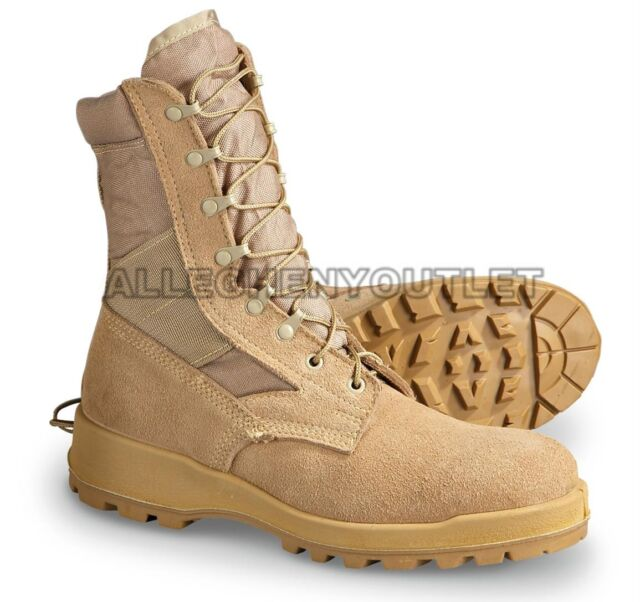 73f2bb23900 US Military Wellco Hot Weather Combat BOOTS Vibram Desert USA Made 14.5 R
