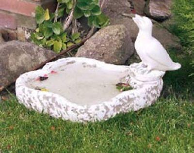Treu Wasserschale Mit Vogel Schale Vogeltränke Fütterung Gartendeko Steinguss 32 Cm Ein Bereicherung Und Ein NäHrstoff FüR Die Leber Und Die Niere